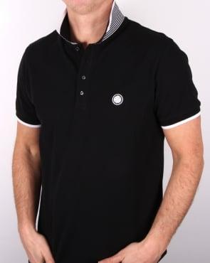 Pretty Green Multistripe Polo Shirt Black