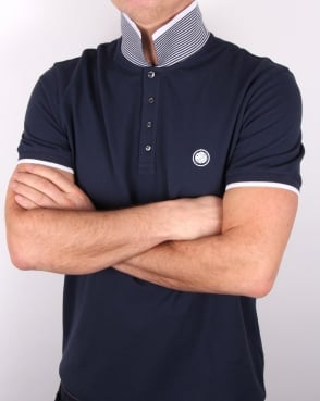 Pretty Green Multistripe Polo Shirt Navy