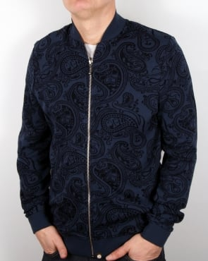 Pretty Green Naseby Track Top Navy