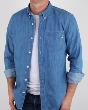 Pretty Green Northella Shirt Denim