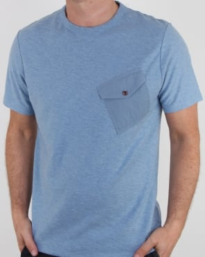 Pretty Green Ockham T Shirt Blue