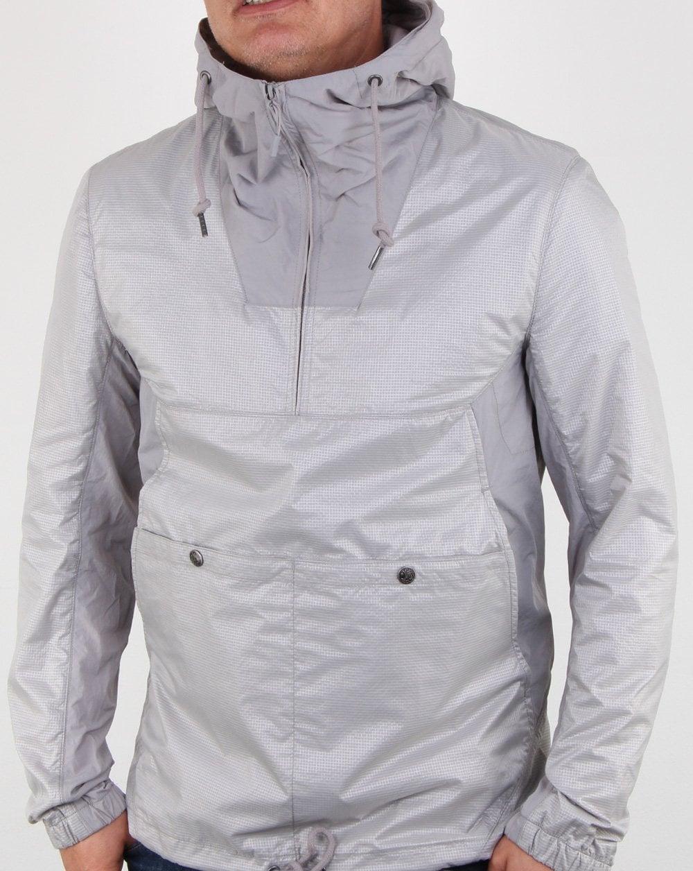 45bc8b3ebf4 Pretty Green Overhead Hooded Jacket Grey