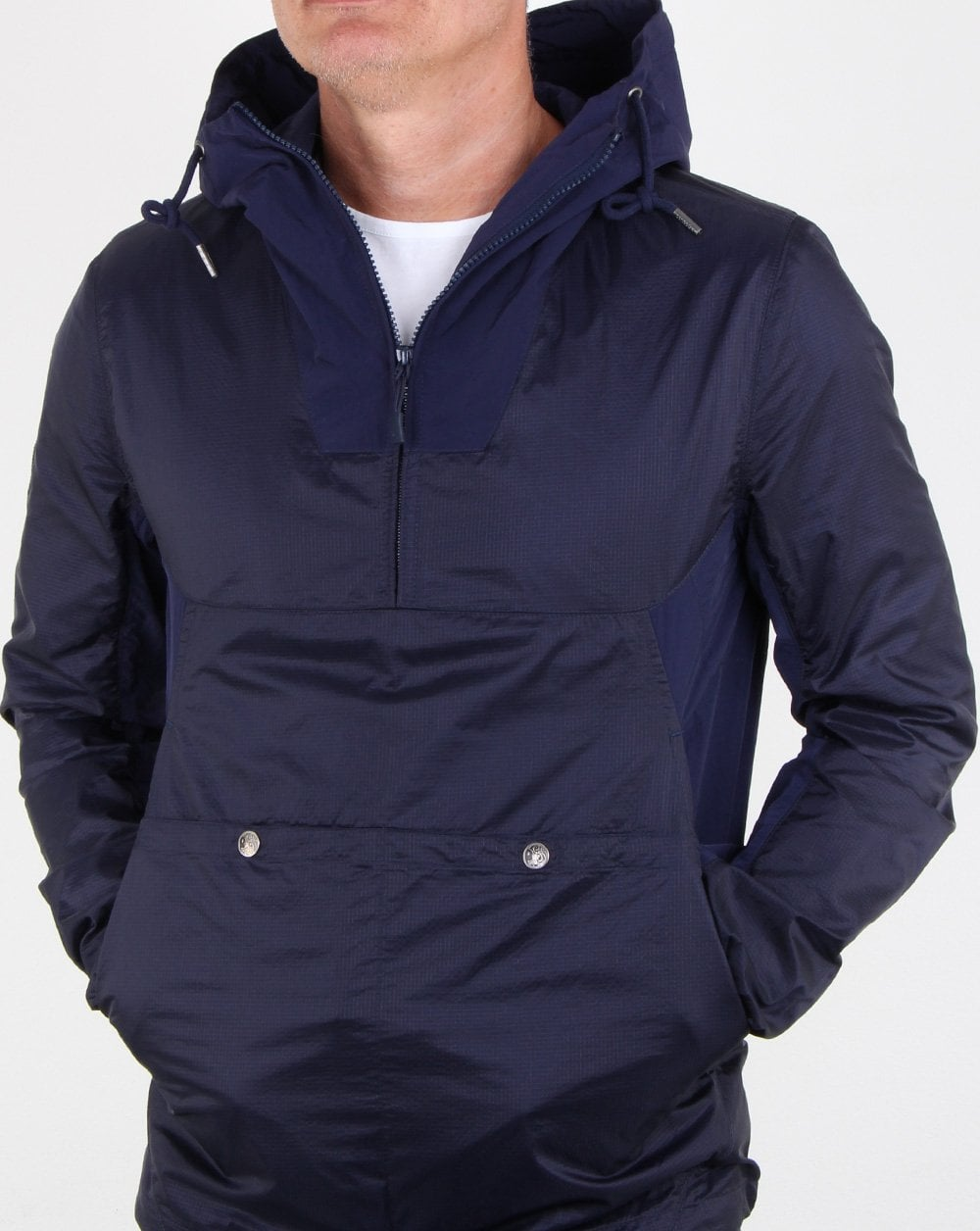 01b0205f35c Pretty Green Overhead Hooded Jacket Navy