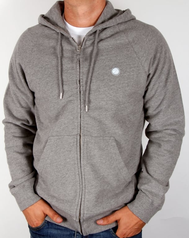 Pretty Green Oxted Hoody Mid Grey Marl