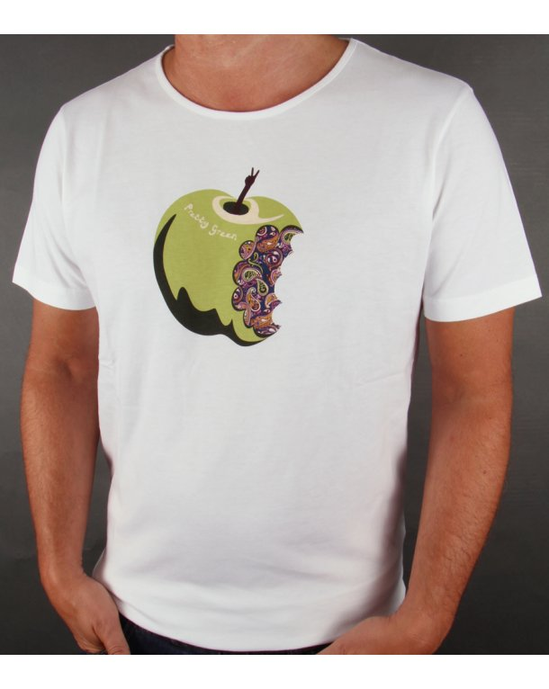 Pretty Green Paisley Apple T-shirt White