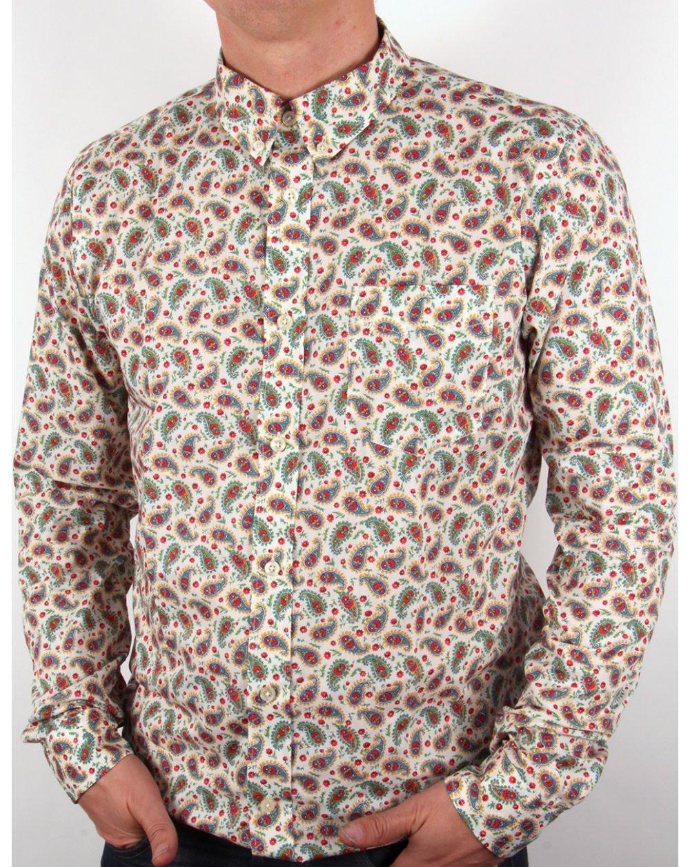 40d1b07b7536d Pretty Green Pretty Green Paisley Liberty Print Shirt Multi