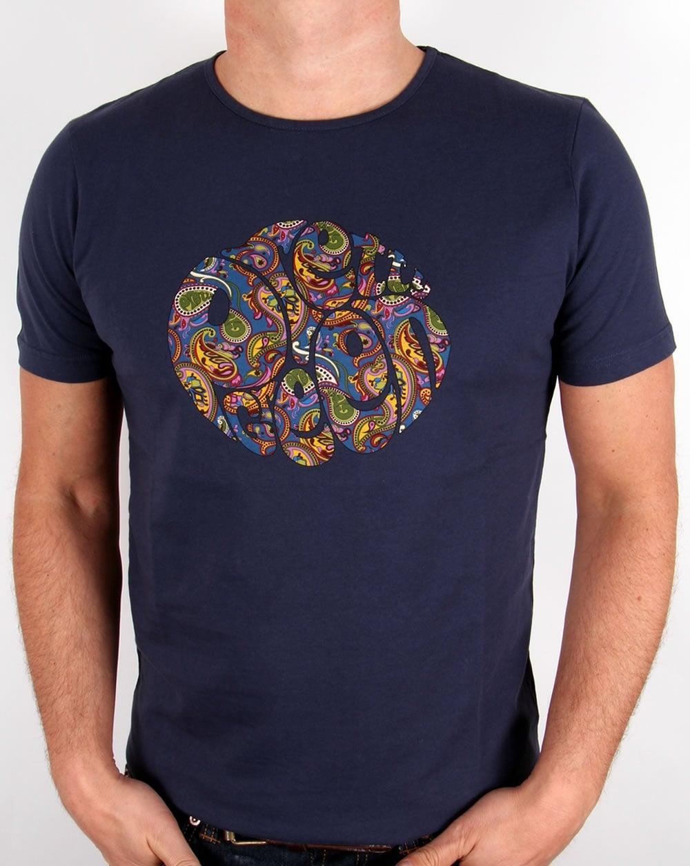 Pretty green paisley logo t shirt navy tee mens sale for Logo t shirts online