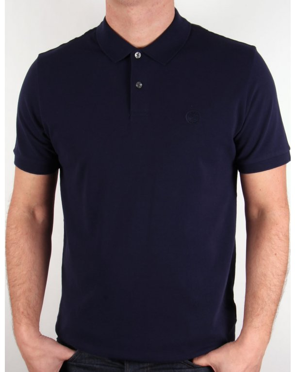 Pretty Green Pinnington Polo Shirt Navy Blue