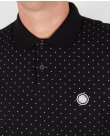 Pretty Green Polka Dot L/s Polo Shirt Black