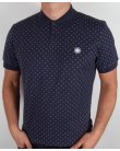 Pretty Green Polka Dot S/s Polo Shirt Navy