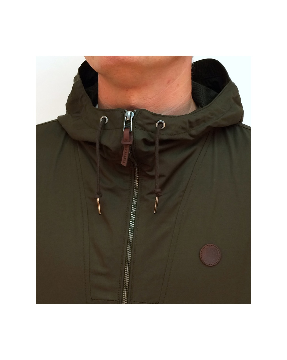 pretty green radway hooded jacket khaki green radway hooded coat mens pretty green. Black Bedroom Furniture Sets. Home Design Ideas