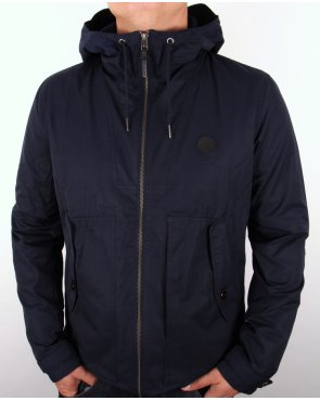 Pretty Green Radway Hooded Jacket Navy