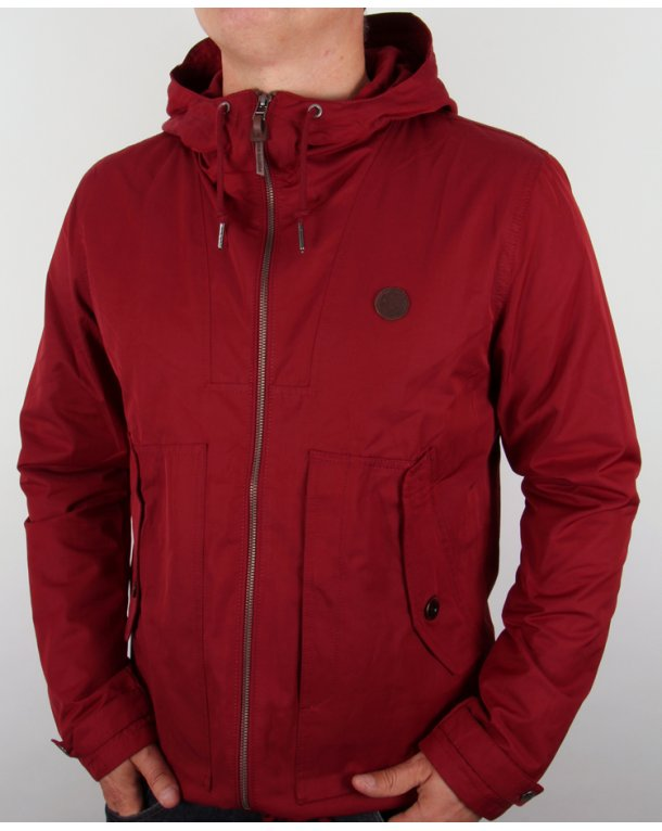 Pretty Green Radway Jacket Red Mens