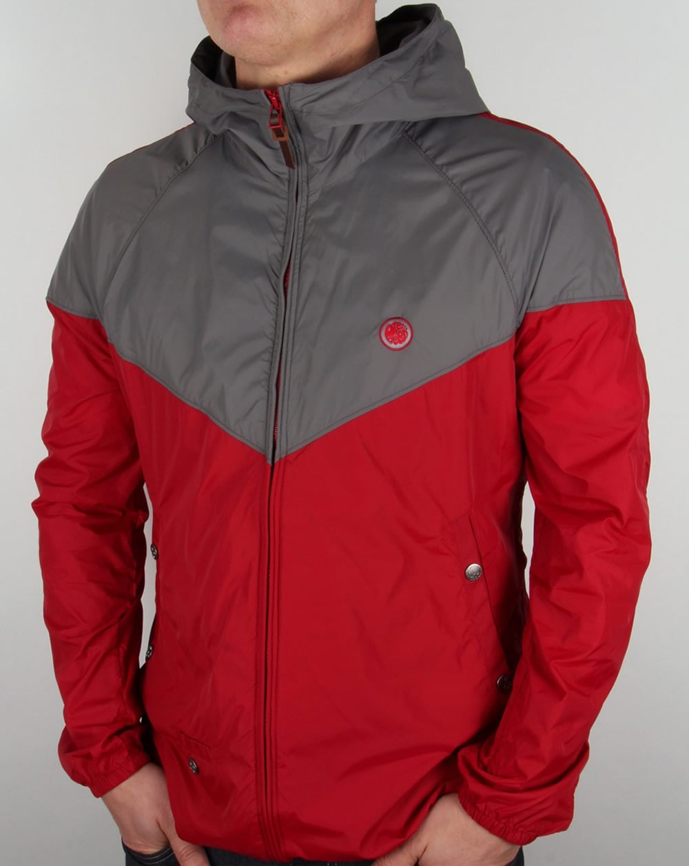 Pretty Green Reedbank Jacket Red,hooded,coat,lightweight,mens