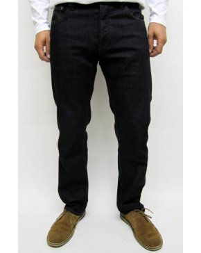 Pretty Green Regular Straight Leg Dark Jeans Dark Wash