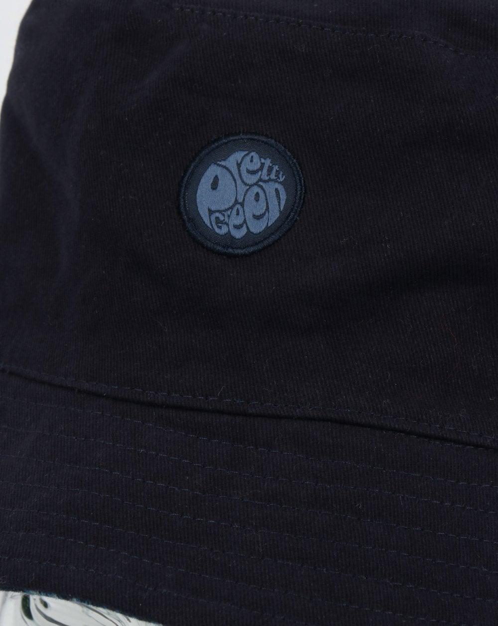 a54eeef00 Pretty Green Reversible Tonal Paisley Bucket Hat Navy