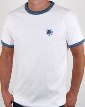 Pretty Green Ringer Badge T-shirt White