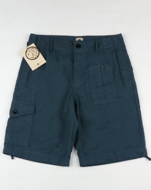 Pretty Green Rockwood Cargo Shorts Blue