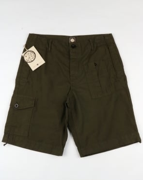 Pretty Green Rockwood Cargo Shorts Khaki