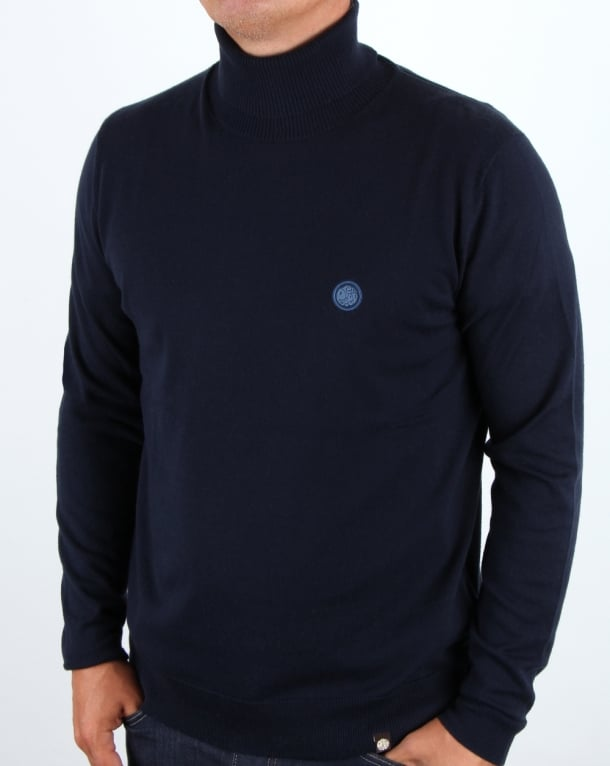 Pretty Green Roll Neck Jumper Navy