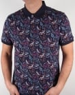 Pretty Green Sefton Print Polo Shirt Navy