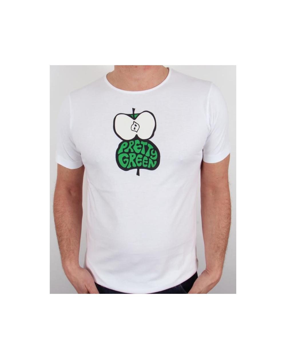 Pretty Green Shadow Apple T Shirt White Pretty Green