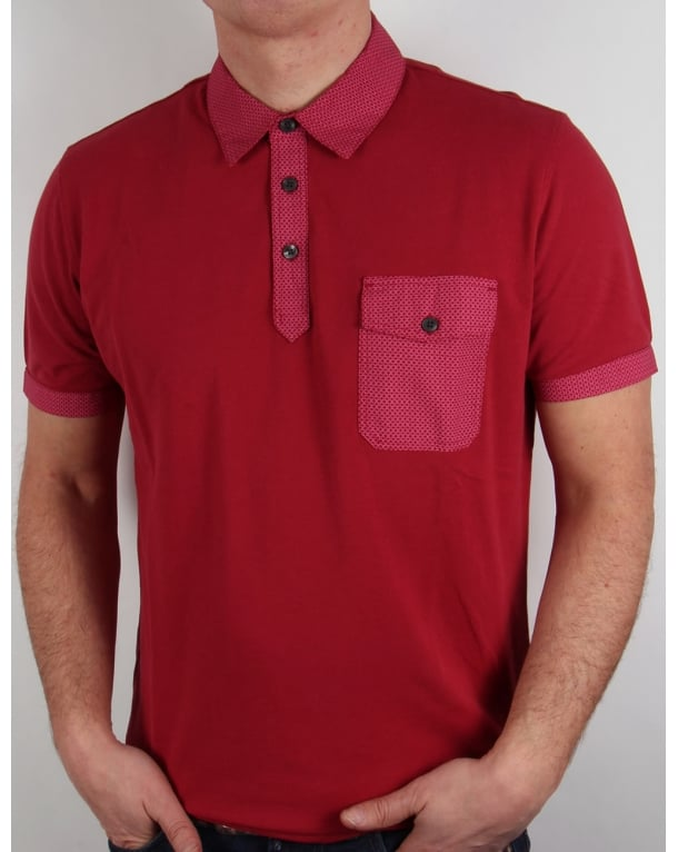 Pretty Green Springfield Polo Shirt Red