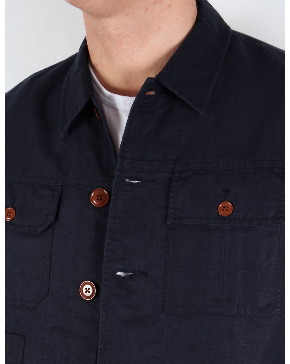 Mens Navy Blue Casual Shirts