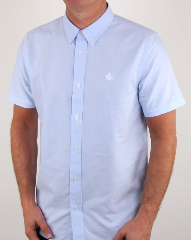 Pretty Green Stirling Oxford Ss Shirt Blue