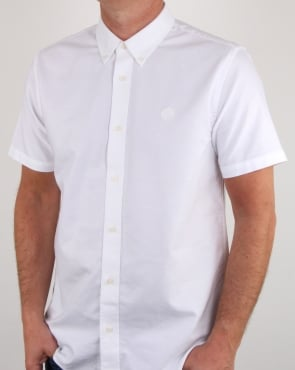 Pretty Green Stirling Oxford Ss Shirt White