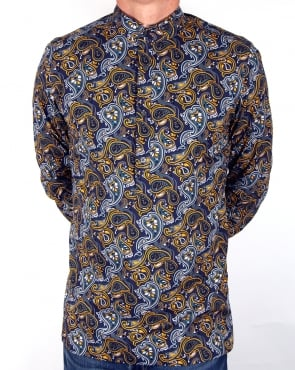 Pretty Green Stretford Kaftan Navy