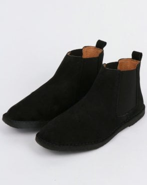Pretty Green Suede Chelsea Boots Black