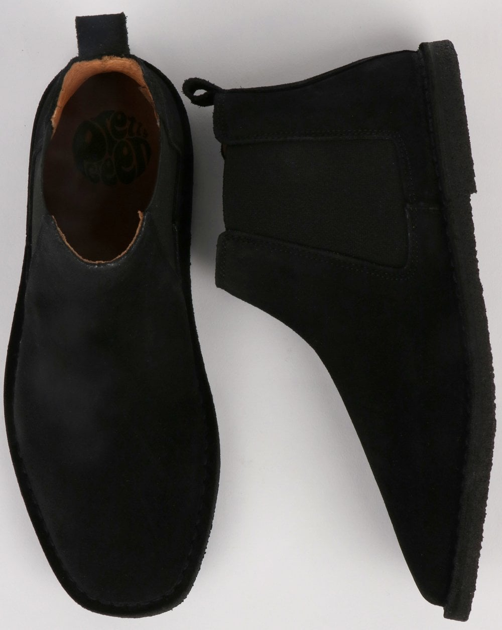 fb4b4328a367 Pretty Green Suede Chelsea Boots in Black