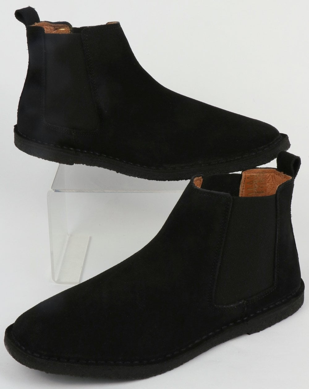 Pretty Green Suede Chelsea Boots in