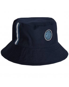 Pretty Green Target Reversible Bucket Hat Navy 116e19cfa5e9