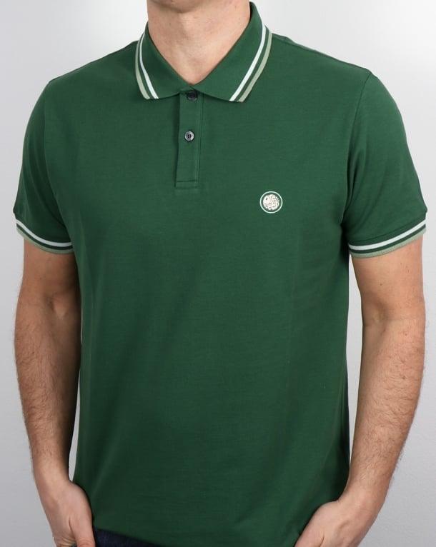 Pretty Green Tipped Polo Shirt Dark Green