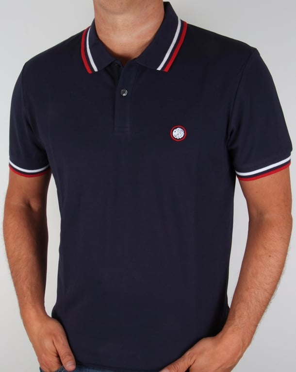 Pretty Green Tipped Polo Shirt Navy