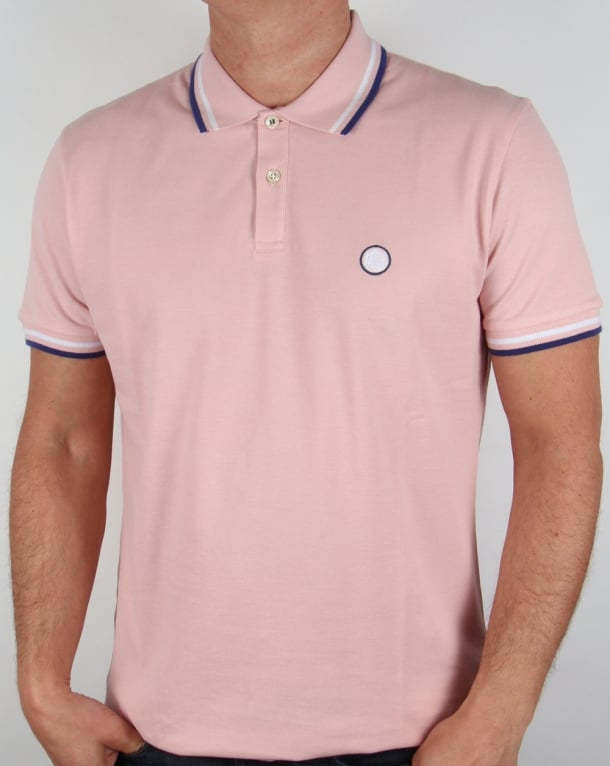 Pretty Green Tipped Polo Shirt Pink