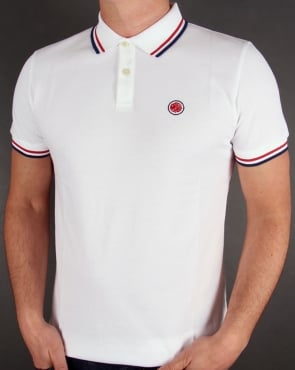 Pretty Green Tipped Polo Shirt White