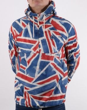 Pretty Green UJ Zip Overhead Hooded Jacket Multi