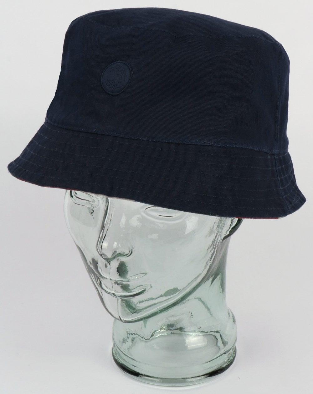 54f38e00a Pretty Green Union Jack Bucket Hat Navy