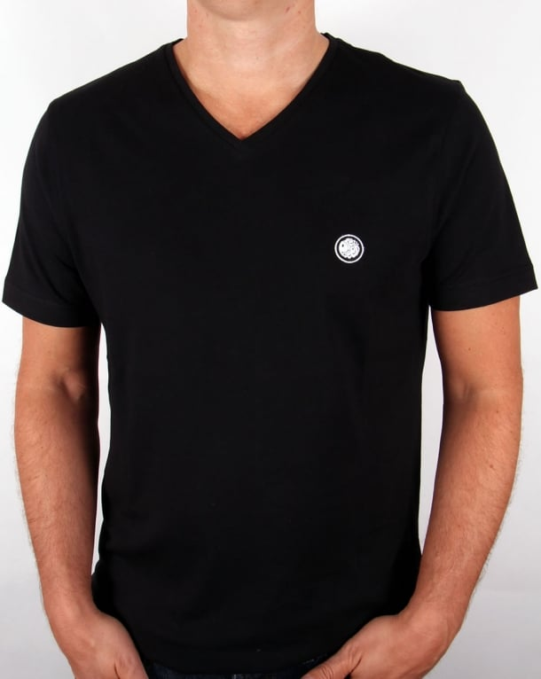 Pretty Green V Neck T-shirt Black