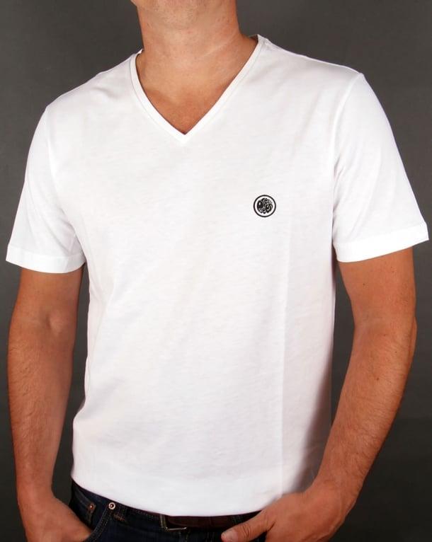 Pretty Green V Neck T-shirt White