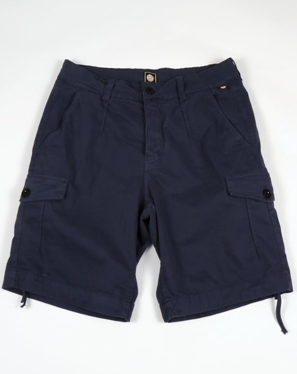 Pretty Green Vale Combat Shorts Navy