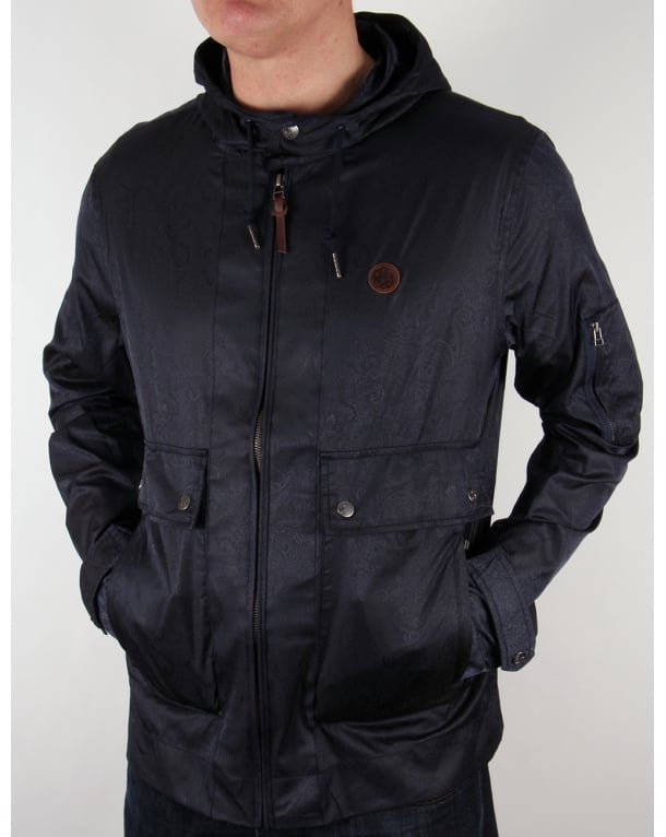 Pretty Green Wren Paisley Jacket Navy