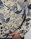 Pretty Green Wren Printed Jacket Navy/stone