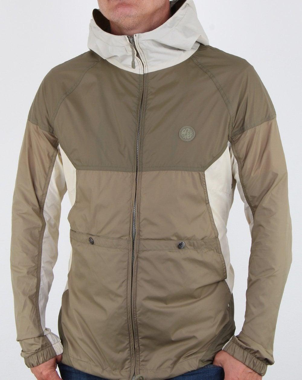 bcb98ad63 Pretty Green Zip Through Hooded Contrast Jacket Khaki