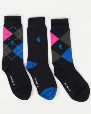Pringle 3 Pack Socks Pringle Bamboo Socks Gift Box Navy