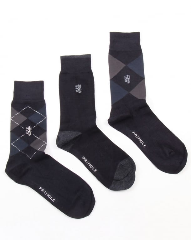 Pringle Waverley Argyle Socks Navy