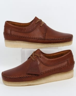 Clarks Originals Weaver Shoes Tan Leather